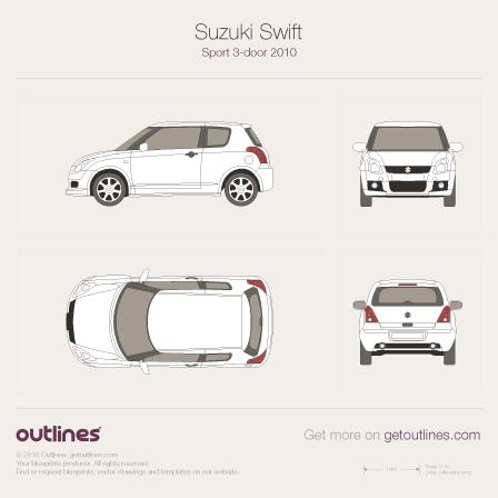 2010 Suzuki Swift Sport Hatchback blueprints and drawings
