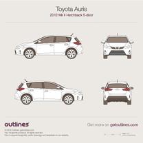 2012 Toyota Auris E180 5-doors Hatchback blueprint