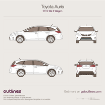 2012 Toyota Auris E180 Wagon blueprint
