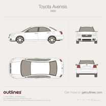 2003 Toyota Avensis II Sedan blueprint
