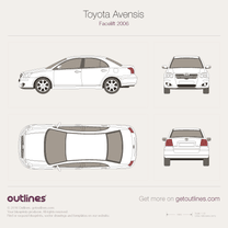 2006 Toyota Avensis II Facelift Sedan blueprint