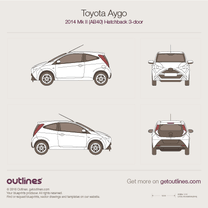 2014 Toyota Aygo AB40 3-doors Hatchback blueprint
