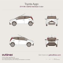 2014 Toyota Aygo AB40 5-doors Hatchback blueprint