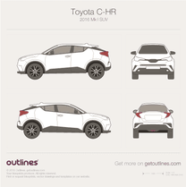 2016 Toyota C-HR SUV blueprint