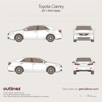 2011 Toyota Camry XV50 Sedan blueprint