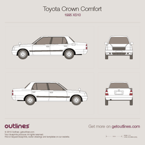 1995 Toyota Crown XS10 Comfort Sedan blueprint