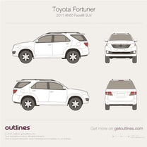 2011 Toyota Fortuner AN50 Facelift SUV blueprint