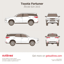 2015 Toyota Fortuner AN160 SUV blueprint