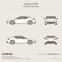 2016 Toyota GT86 Facelift Coupe blueprint
