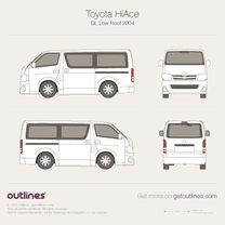 2004 Toyota RegiusAce GL Low Roof Wagon blueprint