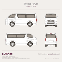 2004 Toyota RegiusAce Low Roof Wagon blueprint