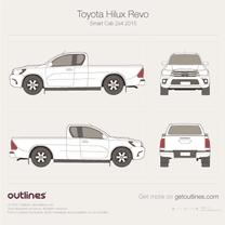 2015 Toyota Hilux Revo Smart Cab 2x4 Pickup Truck blueprint
