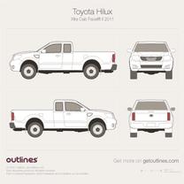 2011 Toyota Vigo Champ Xtra Cab Facelift II Pickup Truck blueprint