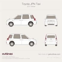 2017 Toyota JPN Taxi Wagon blueprint