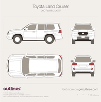 2015 Toyota Land Cruiser 200 Facelift 2 SUV blueprint