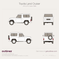 1984 Toyota Land Cruiser 70 SWB SUV blueprint