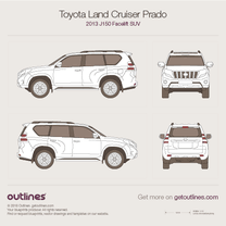 2013 Toyota Land Cruiser Prado J150 Facelift SUV blueprint