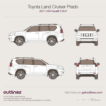 2017 Toyota Land Cruiser Prado J150 Facelift 2 SUV blueprint