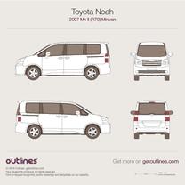 2007 Toyota Noah R70 Minivan blueprint
