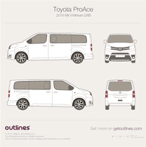 2016 Toyota ProAce II Long Minivan blueprint