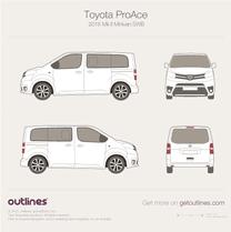 2016 Toyota ProAce II Compact Minivan blueprint