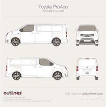 2016 Toyota ProAce II Long Van blueprint