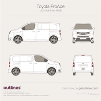 2016 Toyota ProAce II Medium Van blueprint