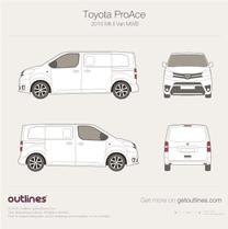 Toyota ProAce blueprint