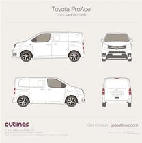 2016 Toyota ProAce II Compact Van blueprint