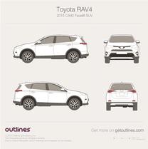 2015 Toyota RAV4 CA40 Facelift SUV blueprint