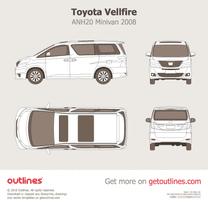 2008 Toyota Vellfire ANH20 Minivan blueprint