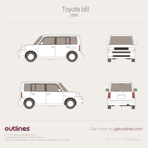 2000 Toyota bB Microvan blueprint