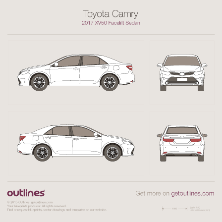 Toyota Camry drawings