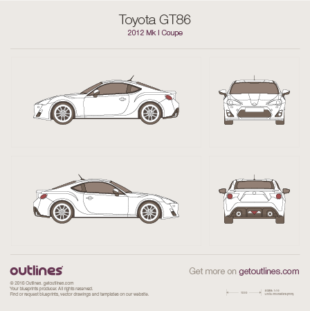 2012 Toyota GT86 Coupe blueprint