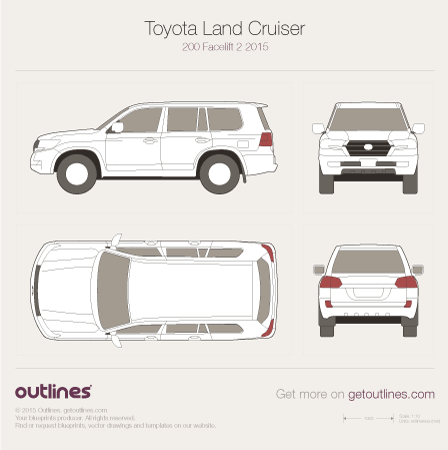 2015 Toyota Land Cruiser V8 Facelift 2 SUV drawings