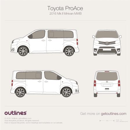 2016 Toyota ProAce II Mefium Minivan blueprint