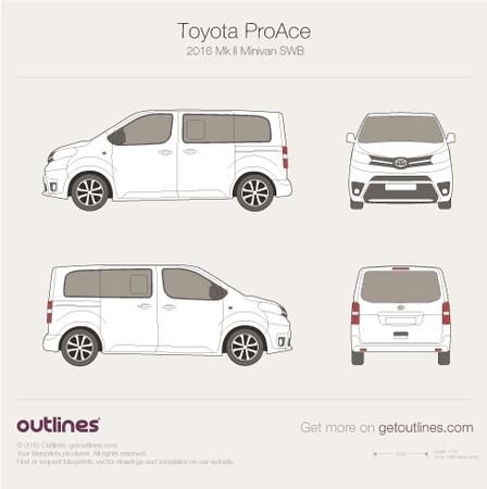 2016 Toyota ProAce II Minivan blueprints and drawings
