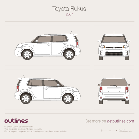 2007 Toyota Rukus Hatchback blueprint