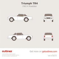 1965 Triumph TR4 A Roadster blueprint
