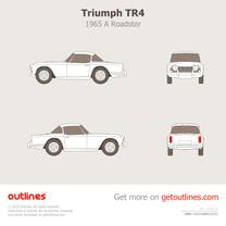 1965 Triumph TR4 A Roadster blueprint