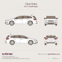 2012 Vauxhall Astra J Facelift Wagon blueprint