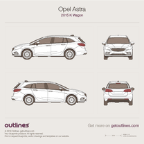 2015 Vauxhall Astra K Wagon blueprint