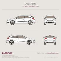 Vauxhall Astra blueprint