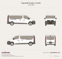 2015 Opel Vivaro Combi L2 H1 Tailgate Minivan blueprint