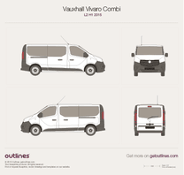 2015 Vauxhall Vivaro Combi L2 H1 Minivan blueprint