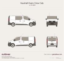 2015 Opel Vivaro Crew Cab L1 H1 Tailgate Wagon blueprint