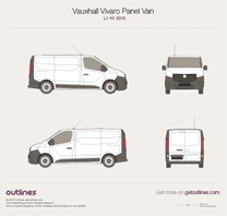2015 Opel Vivaro Panel Van L1 H1 Twin doors Van blueprint