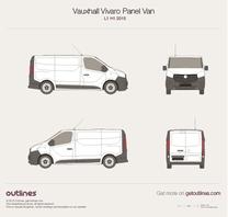 2015 Vauxhall Vivaro  Panel Van L1 H1 Van blueprint