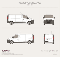 2015 Opel Vivaro Panel Van L2 H1 Twin doors Van blueprint