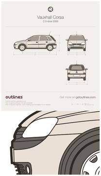 Vauxhall Corsa blueprint